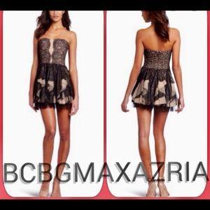 (NWT) BCBG MAXAZIRA • Strapless Lace Dress